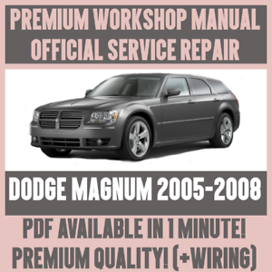 workshop manual service repair guide for dodge magnum 2005 2008 rh ebay co uk 2005 Dodge Magnum Manual Book Haynes Manual for 2005 Dodge Magnum