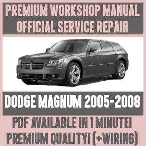 Cablaggio * Manuale Officina Assistenza e Riparazione Guida Per Dodge Magnum 2005-2008