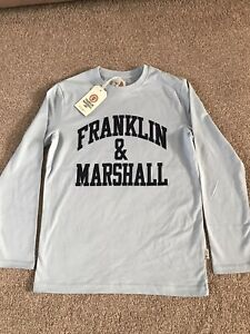 BN-Boys-Kids-Franklin-amp-Marshall-Long-Sleeved-Tshirt-10-11-Yrs
