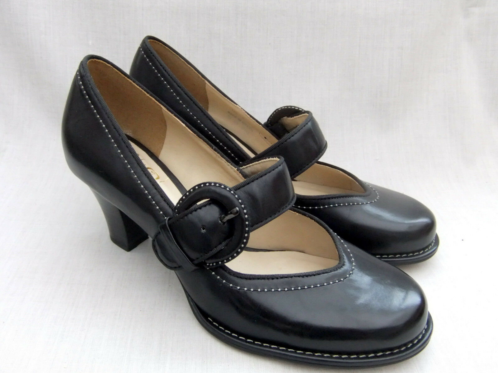 NEW CLARKS BOMBAY LUCK WOMENS BLACK LEATHER SHOES SIZE SIZE SIZE 4   37 a94047