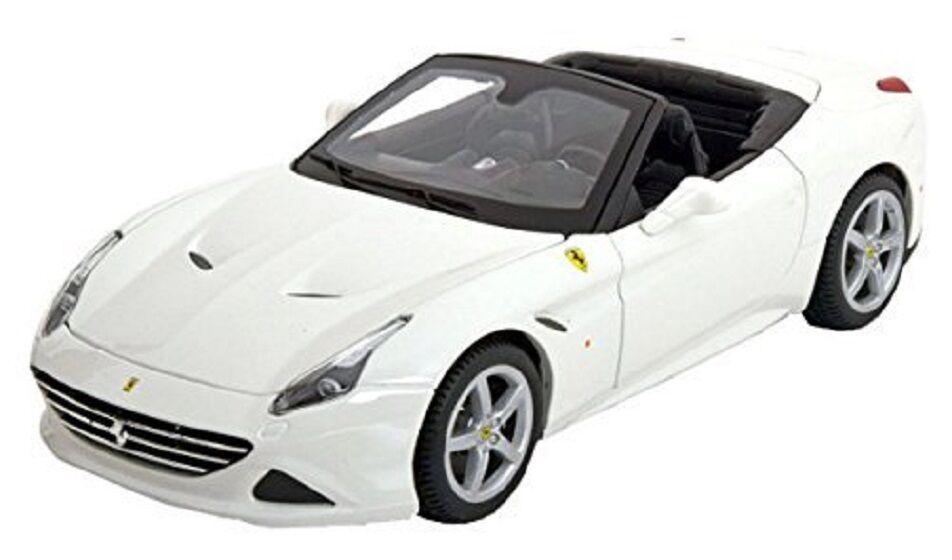 Bburago 1 18 Ferrari California T Open Top White Diecast Car Model NEW IN BOX