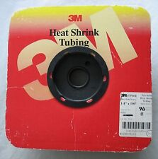 "3 Feet 3M FP301 Black Polyolefin Heat Shrinkable Tubing Shrink Tube 1/4"" x 36"""