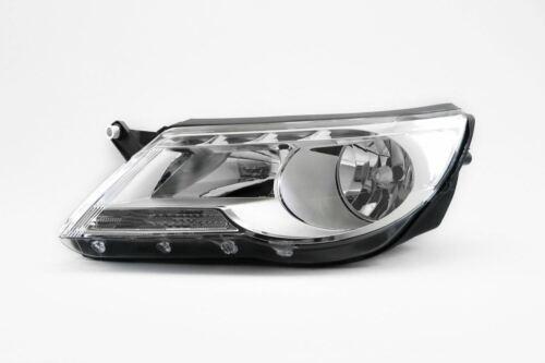 VW Tiguan 08-09 Chrome Headlight Headlamp Left Passenger Near Side OEM Hella