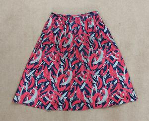 Vintage 196070s Finnish L-Kolttu Pastel Tropical Cotton Print Vest Top