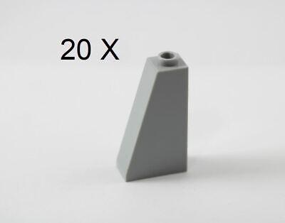20 LEGO 2x1 SLOPE Light GRAY