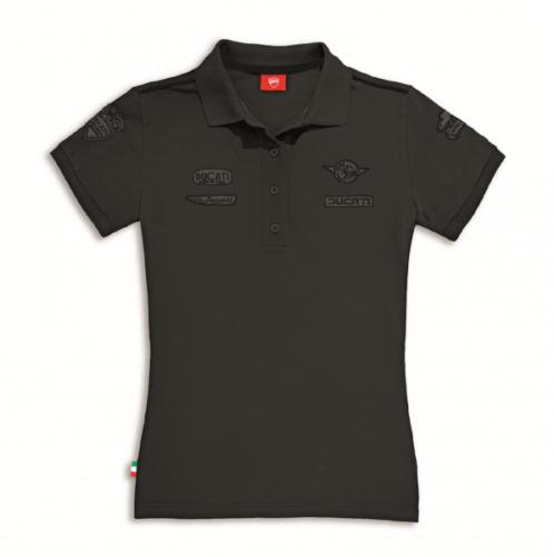 Ducati Historical 2 Damen Poloshirt dunkelgrau Shirt NEU