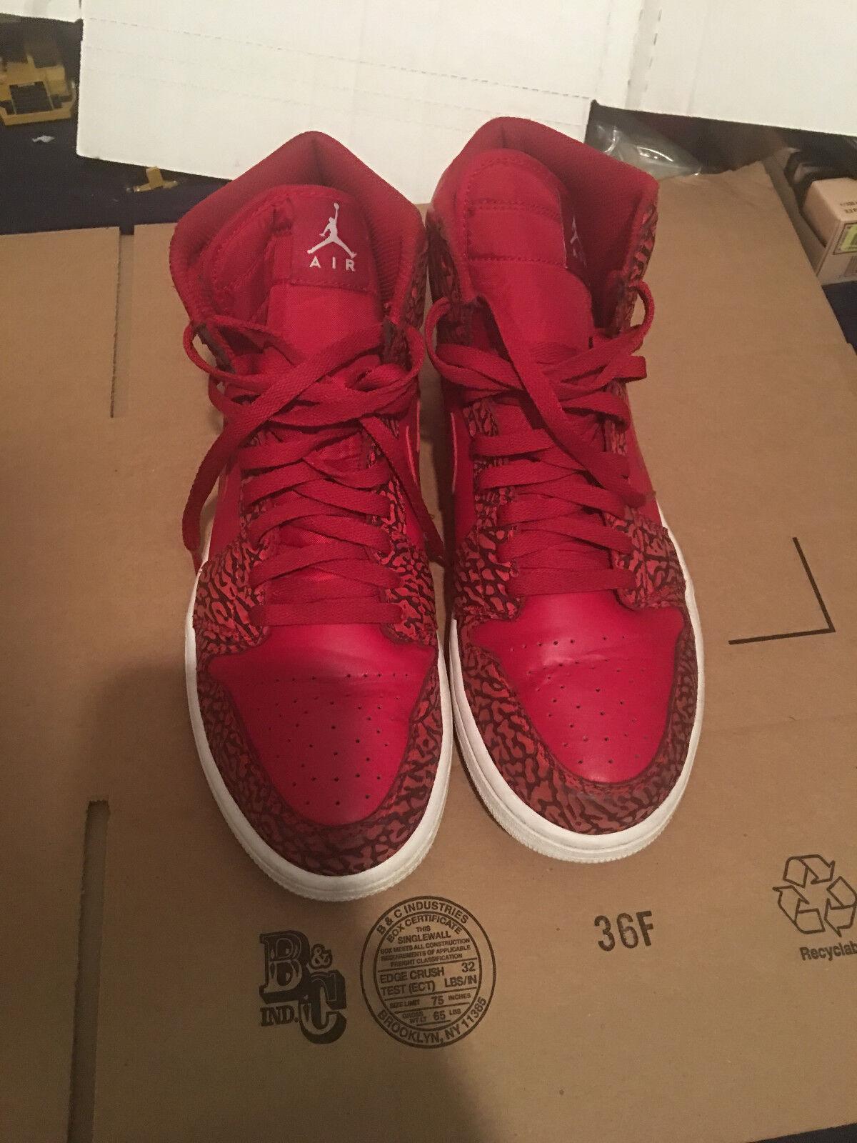 Nike Air Jordan 1 RETRO High UnSupreme Eelephant Men's Shoes, 839115 600 Sz 12