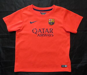 07501fb47d8 Barca 2014-2015 Nike FC Barcelona Away shirt Orange/ kids/boy 104 ...