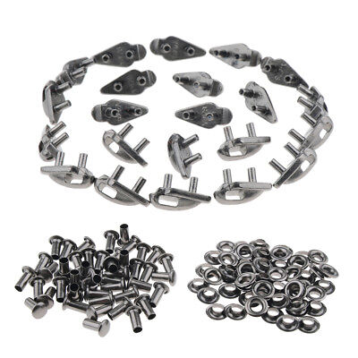 40x Speed Shoe Lace Buckles Repair Hiking Outdoor Mountaineering Boots Hooks
