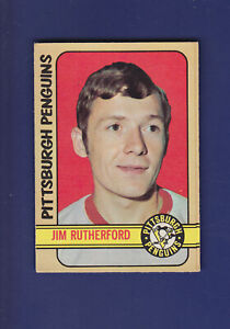 Jim-Rutherford-RC-1972-73-O-PEE-CHEE-OPC-Hockey-EXMT-15-Pittsburgh-Penguins