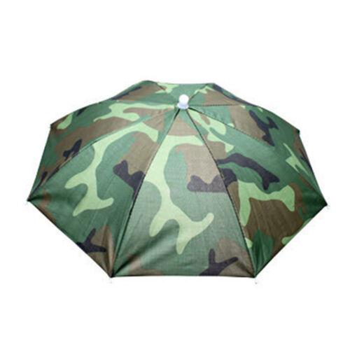 Adults Kids Umbrella Hat Cap Sun Camping Fishing Hiking Foldable Headwear Caps
