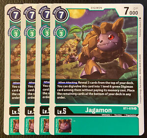 Digimon 2020 TCG 4x Playset English BT1-064 Goblimon C FREE SHIPPING NM