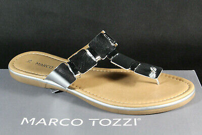 Marco tozzi Toe Thong Mules Mules Sandals Silver 27123 New | eBay