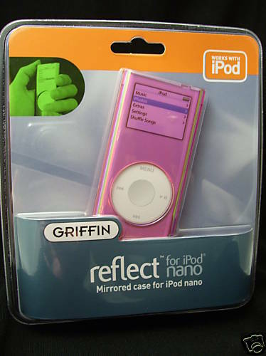 GRIFFIN REFLECT MIRRORED PINK CASE FOR iPOD NANO 2ND GEN NEW SEALED GIFT NR