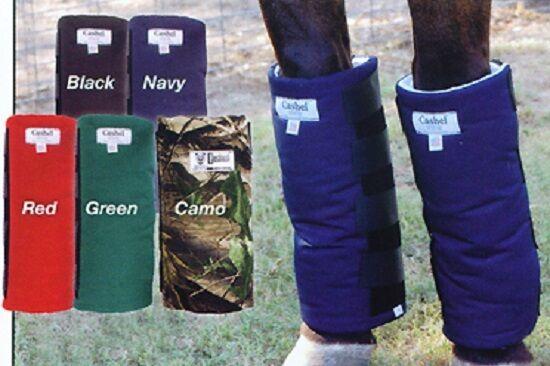 CASHEL Boomer's Soft  Plush Shipping Boots Horse Bandage leg wrap RED Padded