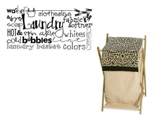 LAUNDRY ROOM Collage Vinyl Lettering Decal Words Wall Sticker Wall Ar Decort