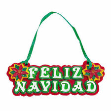 1 pc Feliz Navidad CHRISTMAS TREE ORNAMENTS Spanish Poinsettia