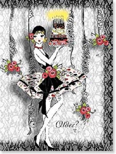 There is no older-only more layers of perfection HAPPY BIRTHDAY CARD NEW
