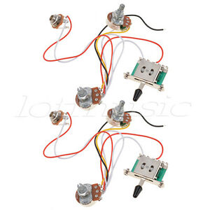 Details about 2 Set 3 Pickup Guitar Wiring Harness Prewired Volume on electrical harness, alpine stereo harness, safety harness, amp bypass harness, maxi-seal harness, dog harness, pony harness, suspension harness, cable harness, engine harness, oxygen sensor extension harness, obd0 to obd1 conversion harness, radio harness, battery harness, fall protection harness, pet harness, nakamichi harness,