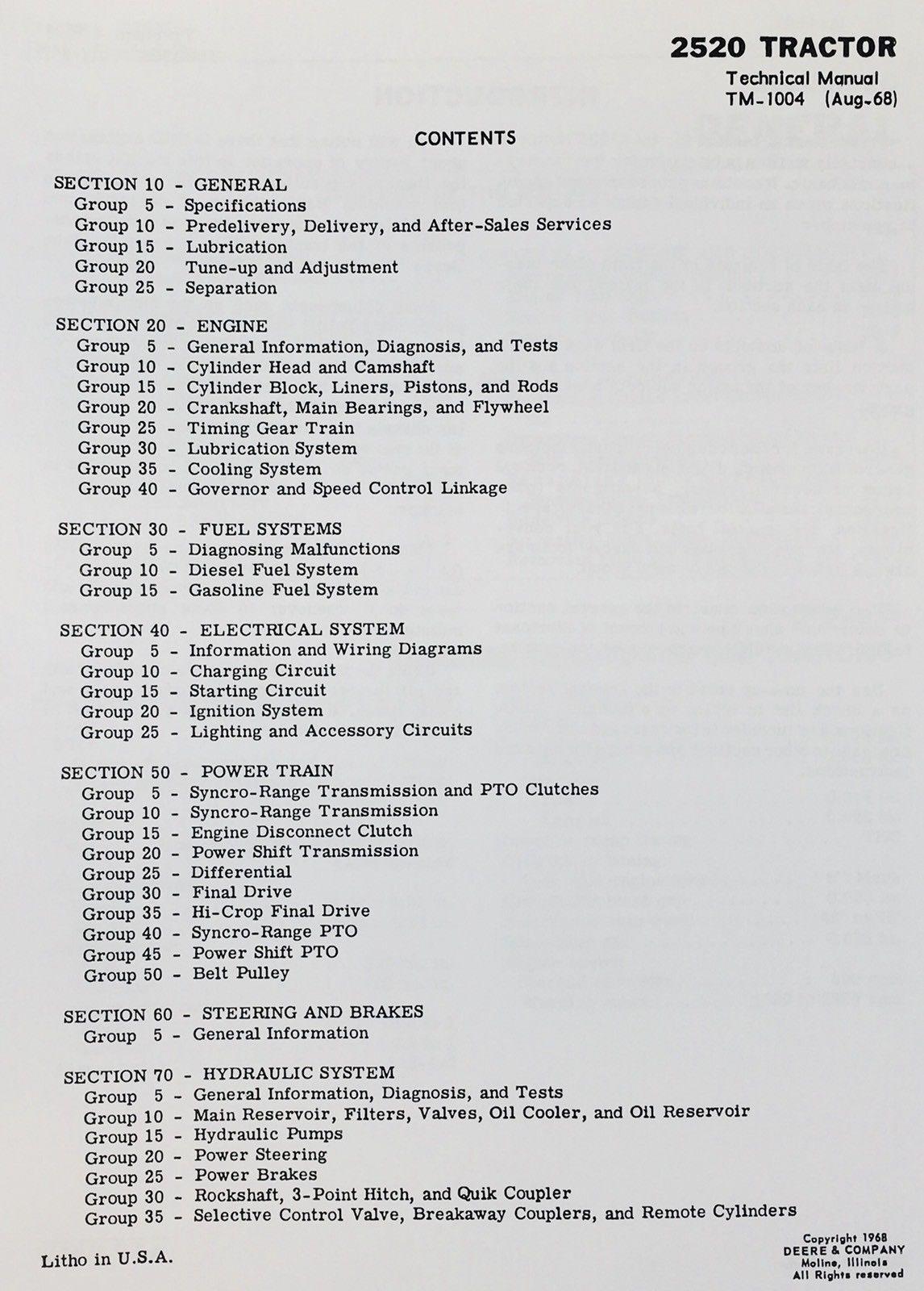 Manual de Mantenimiento Partes Catalog Set para John Deere ... on