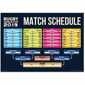 Details about 2019 Rugby World Cup Fixtures Wall Poster A3 for Office  Sweepstakes
