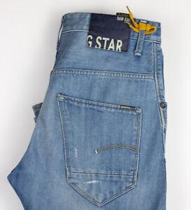 G-Star Brut Hommes Arc 3D Conique Ample Jean Taille W32 L34 ALZ1098