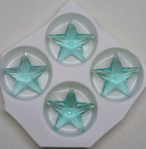 4pc Swarovski Crystal Antique Green 28m Star 8815 Suncatcher// Pendant Logo Etch