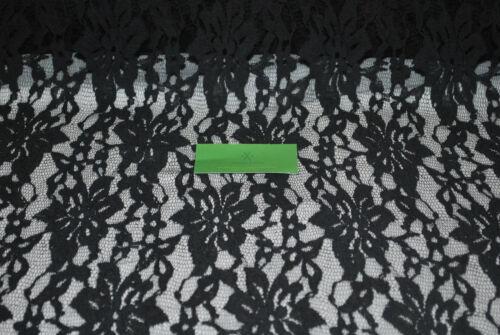 "100/% Cotton Lace woven fabric 58/"" Wide beautiful lace natural fiber soft Black"