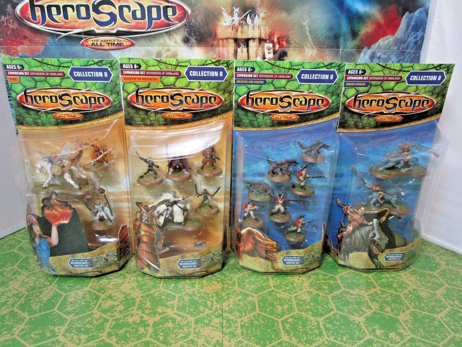Heroscape Onda 8 defensores de Kinsland Nuevo en Caja, Completo-Elfos, 10th Reg. más