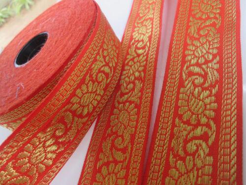 4cm elegante deko 1m//5m// 10 Meter Spitze BORTE Nichtelastisch Orange GOLD