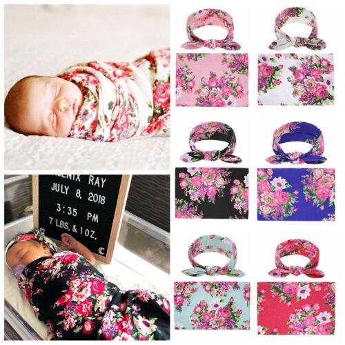 Muslin Receiving Blanket Bow Headband Sleeping Swaddle Baby Swaddle Blanket