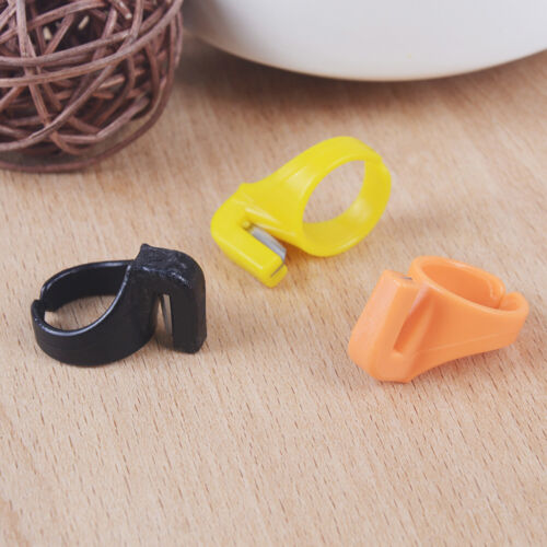 3Xplastic sewing thimble ring with blade finger thimble thread cutter DIY toolXS