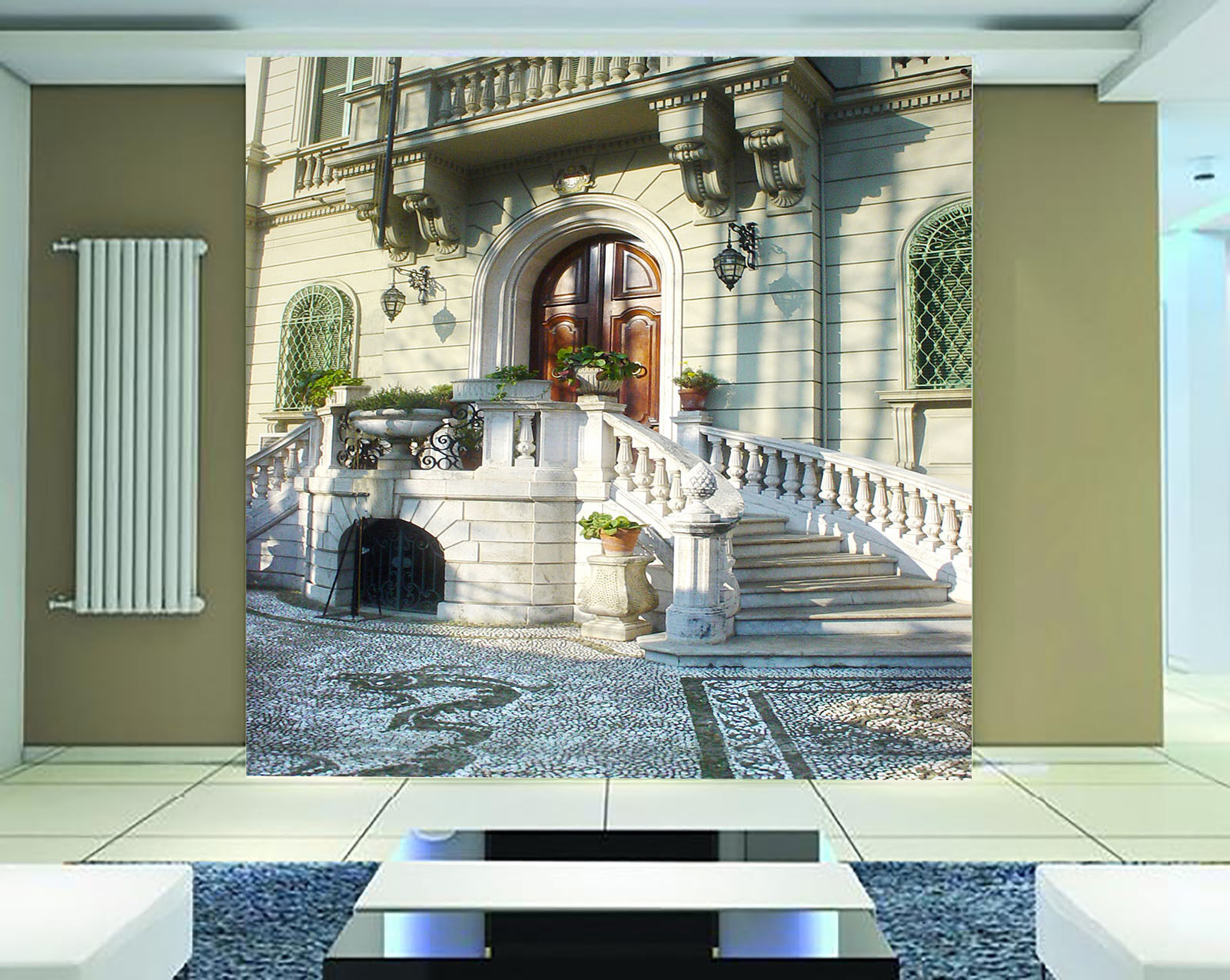 3D Grand Houses Stones Ground 31 Wall Paper Wall Print Decal Wall AJ Wall Paper