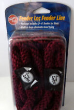 "Cranberry Boat Fender Lines 3/8"" x 6' Pair Taylor Loc Poly Rope Bumper Loop End"