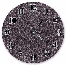 """10.5"""" TINY WHITE HEARTS CLOCK - Large 10.5"""" Wall Clock - Home Décor Clock - 3010"""