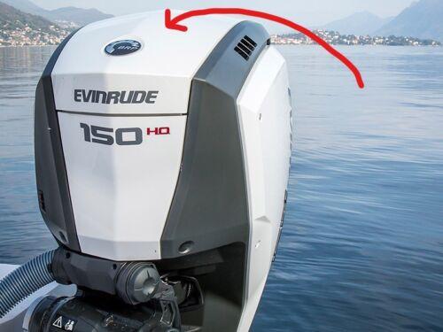 Evinrude Outboard Cowl Cover Bright White Center Piece 00285886-00