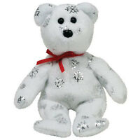 Ty Jingle Beanie Baby - Flaky The Bear (white) (walgreens Exclusive) (5 Inch)