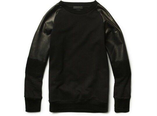 NWT Alexander McQueen Degrade Leder Sleeve Sweater L