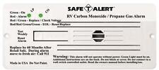 American Motorhome RV LPG  + CO Detector 12v White  Safe T Alert 35-742-wt