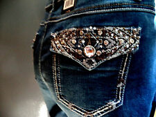 Woman's EARL JEANS CAPRI Size 12  Embroidered  Bling Me  Cute!