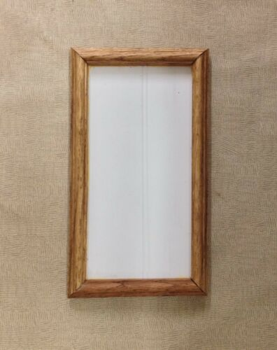 Custom Oak tile frame made to match your tiles Go to Applewood Pottery store.