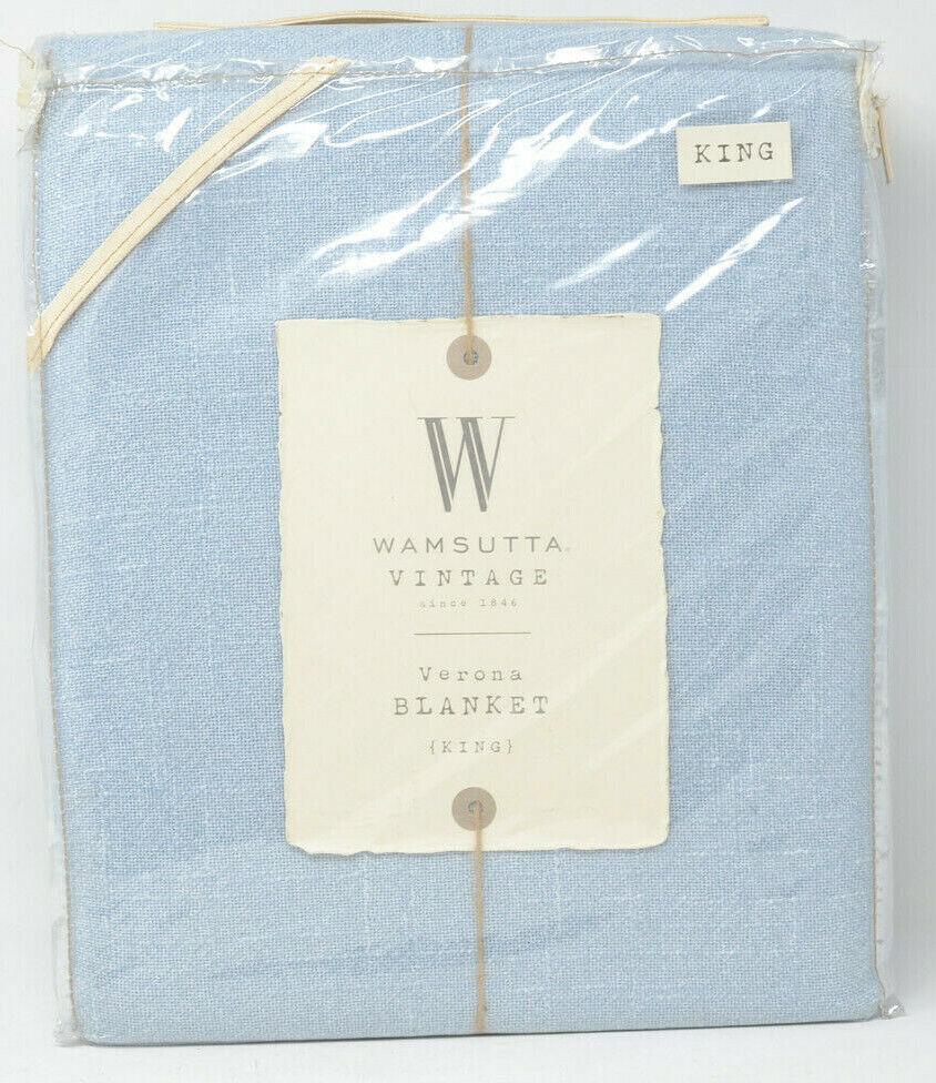 Wamsutta vintage VERONA King Couverture en Bleu