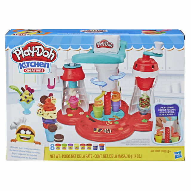 Play Doh Kitchen Creations Ultimate Swirl Ice Cream Maker Food Set E1935 For Sale Online Ebay