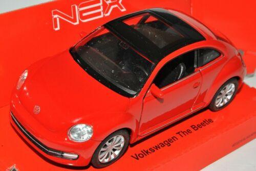 VW Volkswagen New Beetle Coupé a partir de 2011 rojo ca 1//43 1//36-1//46 Welly modelo coche...