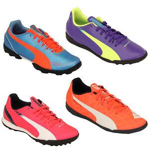8c6e6fbc6f4 Image is loading Girls-Boys-Football-Trainers-Puma-Kids-EvoSpeed-Boots-