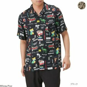 Toy-Story-Hawaii-Hemd-XL-Disney-Pixar-Herren-Rayon-Total-Muster-NEMO-CARS