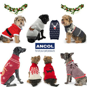 Christmas Dog.Details About Ancol Christmas Xmas Warm Cosy Dog Jumper Sweater Snowflake Reindeer Cute Gift