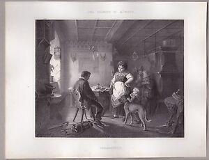 Dachau-Gastwirtin-Zechpreller-Lithographie-n-Carl-Haumann-Muenchen-1866