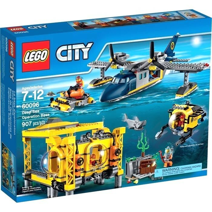 LEGO City ru 60096 ru Deep Sea Operation Base u 907 pcs  pzs brainst u Brand Ny Sealead Set