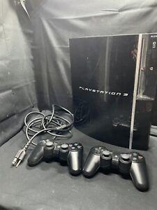 Playstation 3 PS3 Original Design CECHH01 - w/ 2 Wireless DualShock Controllers!
